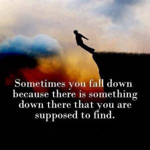 Sometimes you fall down
