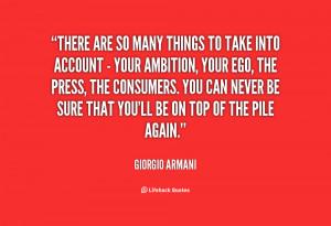 Giorgio Armani Quotes Fashion