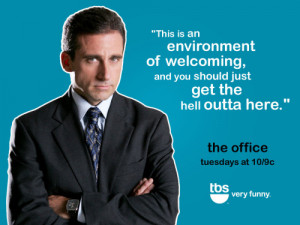 18 notes # the office # tbs # michael scott # toby flenderson #