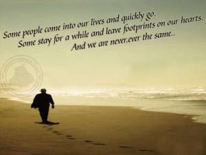 Heart Sayings: Footprints On Hearts…