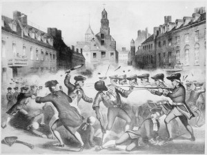 Depiction of the Boston Massacre