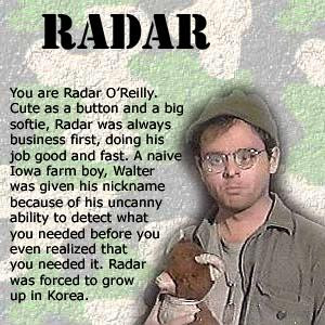 Radar from M*A*S*H