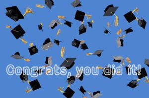 Congratulations College Graduate Quotes Graduation ecard with a