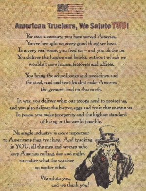 American Truckers, We Salute You!!