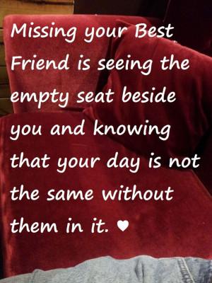 Missing your Best Friend