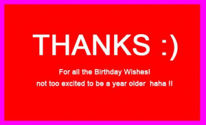 Birthday Thank You Wishes for Facebook