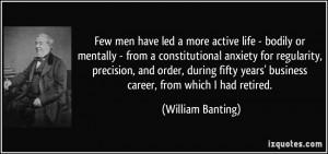 More William Banting Quotes