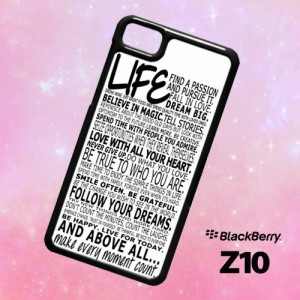 ER1428 LIFE QUOTE Blackberry Z10 Case   BirlynaCase - Accessories on ...