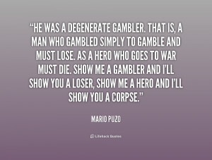 Quotation Mario Puzo Life Love Family Men Crime Trying Children Women ...