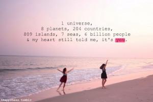 girl, love, quote, sea, sweet, world