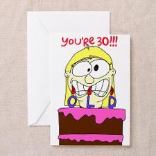 Cute 30 year old birthday Greeting Card