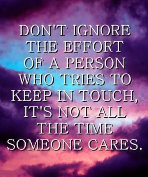 Don't ignore...