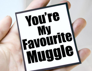 muggle mgt fav101 $ 3 00 harry potter funny quote magnet quote ...