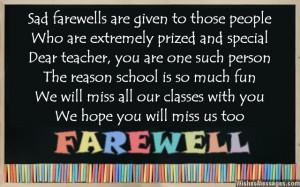 Farewell Poems for Teacher: Goodbye Poems for Teacher