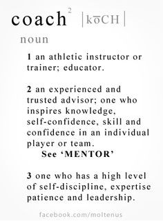 your coach inspire you to be your best? Repin for your favorite coach ...