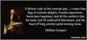 ... , know. (William Cowper) #quotes #quote #quotations #WilliamCowper