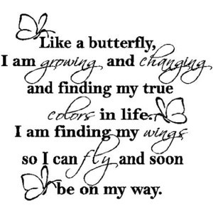 ... Like A Butterfly....Wall Expressions Words Quotes Lettering Sayings