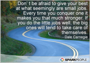 Motivational Quote - Don't be afraid to give your best at what ...
