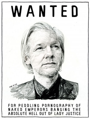 The Times Correction Glacier: Julian Assange