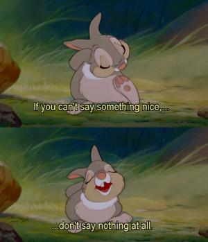 bambi, cute, disney, movie, quote, thumper, true