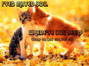 Missing You Graphic – I've Missed You