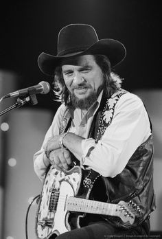 June 2, 1983, Los Angeles, Waylon Jennings on stage. More
