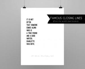 CHARLOTTE'S WEB // E.B. White // quote poster // Select a Size ...