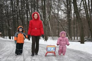 Photo Credit mother with children. winter image by Pavel Losevsky from ...