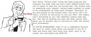 Explaining the friendzone