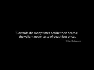Shakespeare - Julius Caesar Quote Wallpaper
