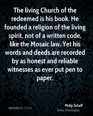 The living Church of the redeemed is his book. He founded a religion ...