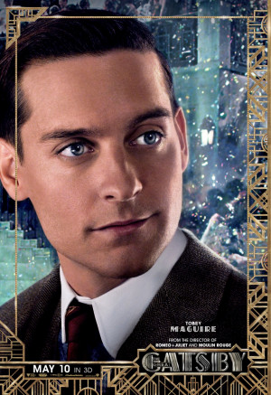 The Great Gatsby Tobey Maguire poster