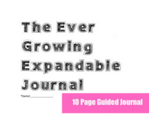 INSTANT DOWNLOAD- Expandable Guided Journal or Diary- Original Set ...