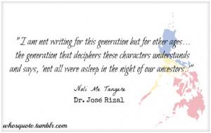 Noli Me Tangere | Dr. Jose P. Rizal