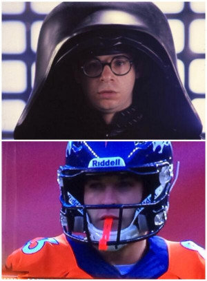 New helmet equals turn to the dark side.