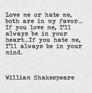 Love me or hate me... I don't care! I am who I am.
