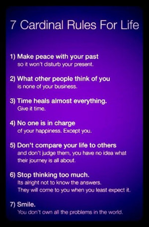 Make peace with your past.