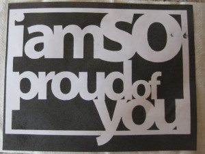 ... that makes my mom and dad feel happy and they say i m proud of you