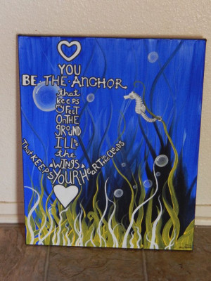 My anchor quote with a seahorse