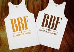 BLonde and Brunette Best Friends! Awesome tanks! #hair #blonde # ...