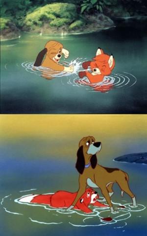 copper, cute, disney, fox, fox and the hound, friendship, hound, tod