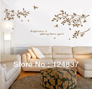 happiness is being home again quote Vinyl Wall Art removable Decals ...