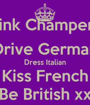 speak english dress italian drive german kiss french be ukraine