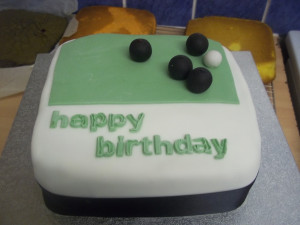 Crown Green Bowling Birthday cake