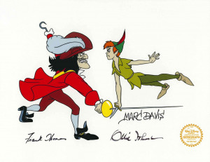 Peter Pan and Hook (Marc Davis / Ollie Johnston / Frank Thomas)