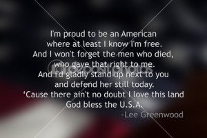 Blurred American Flag with quote in front — Stock Image #31159699
