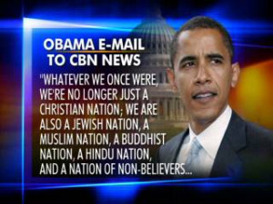 Obama to CBN News: We're no Longer Just a Christian Nation