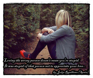 Loving The Wrong Person…