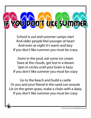 poems for kids | Summer Poems for Kids Summer Kids Poem - If You Don't ...