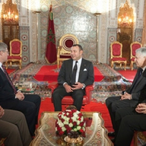 King Mohammed VI in a meeting